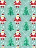Безшовные рождество и картина Санты Стоковое фото RF