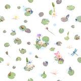 Безшовные розы моря Стоковые Фотографии RF