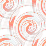 Безшовные свирли белых и апельсина Стоковая Фотография