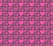 Безшовные сердца 40 картины Стоковые Фотографии RF