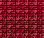 Безшовные сердца 64 картины Стоковое Изображение
