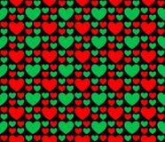 Безшовные сердца 65 картины Стоковая Фотография