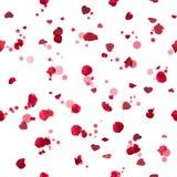 Безшовные сердца роз Стоковые Фотографии RF