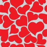 Безшовные сердца Стоковое Изображение RF