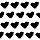 Безшовные сердца grunge картины doodle иллюстрация штока
