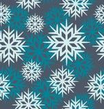 Безшовные снежинки вектора Стоковое фото RF
