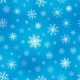 Безшовные снежинки 1 предпосылки Стоковые Фотографии RF