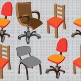 безшовные стулья картины на сером цвете Стоковое Изображение