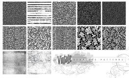 Безшовные текстуры и картины Стоковое Изображение