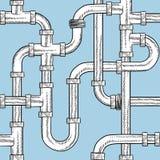 Безшовные трубы водопровода vector beckground Стоковые Изображения RF