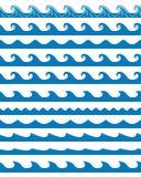 Безшовные установленные картины волн Стоковые Изображения