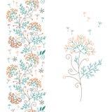 Безшовные флористические граница и цветок Стоковое Фото