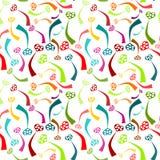 Безшовные цветастые спайки сердца Стоковое Изображение RF