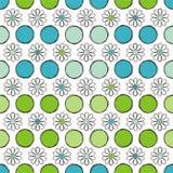 Безшовные цветки и круг предпосылки Иллюстрация вектора