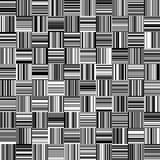 Безшовные черно-белые прямые вертикальные и горизонтальные переменные нашивки ширины бесплатная иллюстрация