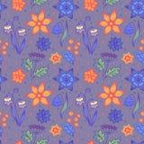 Безшовные яркие striped цветки Стоковые Фото