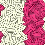 Безшовные 2 линии предпосылка цветов нарисованный вручную Стоковые Фотографии RF