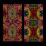Безшовные pattens вектора установили с гипнотизируют ровную линию Ретро психоделические предпосылки Абстрактный градиент вектора бесплатная иллюстрация