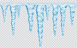 Безшовные repeatable сосульки Стоковые Фотографии RF