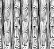 Безшовный, абстрактный, картина волн и линия на белой предпосылке Стоковое фото RF