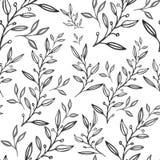 Безшовный абстрактный цветочный узор, иллюстрацию руки вычерченную м иллюстрация вектора