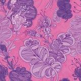 Безшовный абстрактный цветочный узор Стоковое Изображение