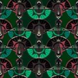 Безшовный античный орнамент картины Ба геометрического стиля Арт Деко стильный Стоковое Изображение