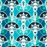 Безшовный античный орнамент картины Ба геометрического стиля Арт Деко стильный Стоковые Фотографии RF