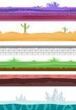 Безшовный ландшафт Для игры Ui иллюстрация вектора
