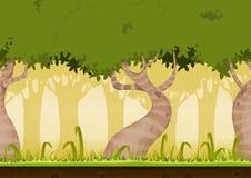 Безшовный ландшафт леса Стоковое Изображение