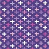 Безшовный битник пересекает пурпур пинка картины предпосылки Стоковые Фотографии RF