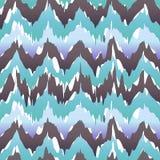 Безшовный вектор картины предпосылки Ikat Шеврона холодный свеже иллюстрация штока
