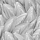 Безшовный, вектор, конспект, картина контура Стоковая Фотография RF