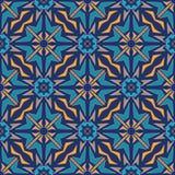 безшовный вектор текстуры Орнамент для керамической плитки Картина португальских azulejos декоративная Стоковые Фото