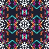 безшовный вектор текстуры Племенная геометрическая картина Electro тенденция цвета boho Ацтекский орнаментальный стиль иллюстрация штока