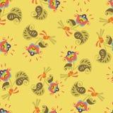 Безшовный винтажный цветок бесплатная иллюстрация