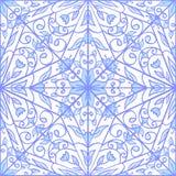 Безшовный голубой геометрический цветочный узор Смогите быть использовано для wallpape Стоковое Фото