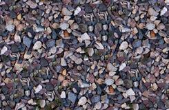 Безшовный гравий, крупный план камешков Стоковые Изображения RF