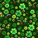 Безшовный день St. Patrick s зеленый leprechaun бесплатная иллюстрация