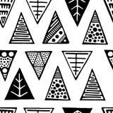Безшовный декоративный геометрический орнамент Стоковые Фотографии RF