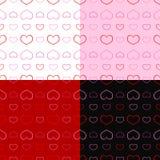 Безшовный день валентинки картины Стоковые Фотографии RF