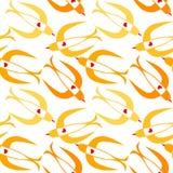 Безшовный летать птиц ласточки Стоковые Фотографии RF