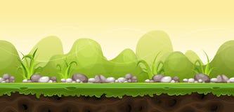 Безшовный зеленый ландшафт для игры Ui бесплатная иллюстрация