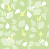 Безшовный зеленый цвет выходит предпосылка Стоковое Изображение RF