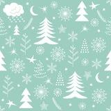 Безшовный зеленый цвет картины рождества Стоковое Изображение RF