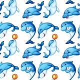 Безшовный дизайн дельфинов бесплатная иллюстрация