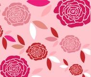 Безшовный дизайн картины роз бесплатная иллюстрация