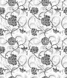 Безшовный китайский орнамент с цветками бесплатная иллюстрация