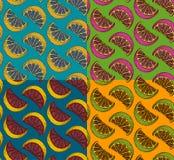 Безшовный комплект картины искусства шипучки Стоковая Фотография RF