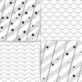 безшовный комплект предпосылок вектора геометрических Стоковое Изображение RF